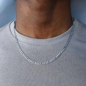 4mm 925 Sterling Silver Fiagro Chain 14-30in